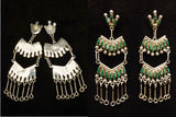 Sterling Silver Cathedral Earrings by Roxanne Seoutewa