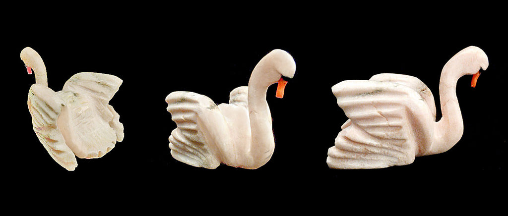 Soapstone Bird, Swan by Narren Bowannie