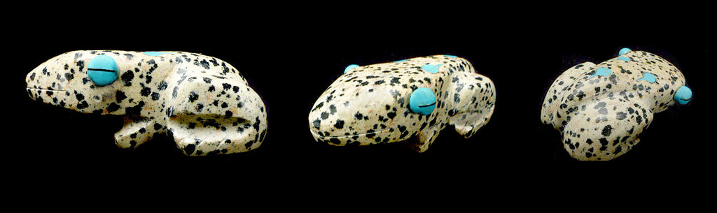 Dalmatian Agate  Frog by Andres Lementino