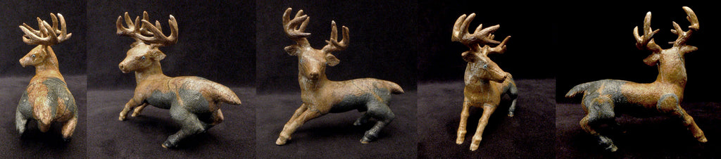 Picasso Marble Deer by Travis Lasiloo