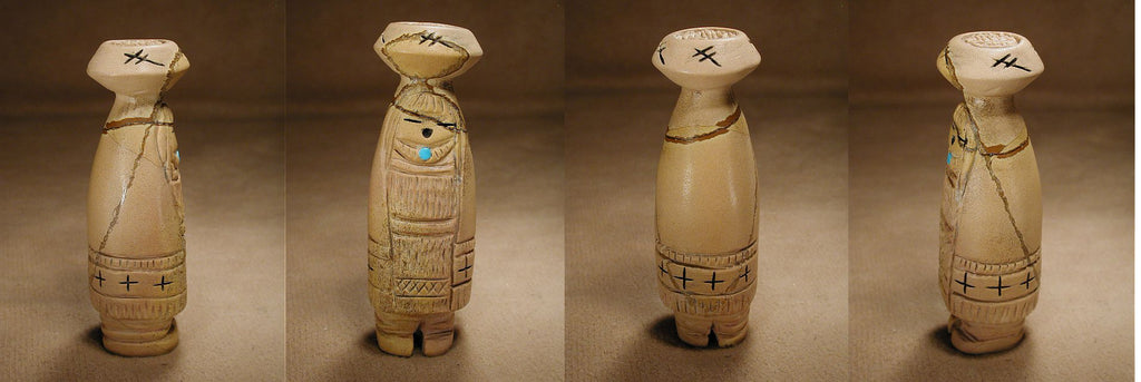Zuni Rock (travertine) Maiden by Faye Quandelacy