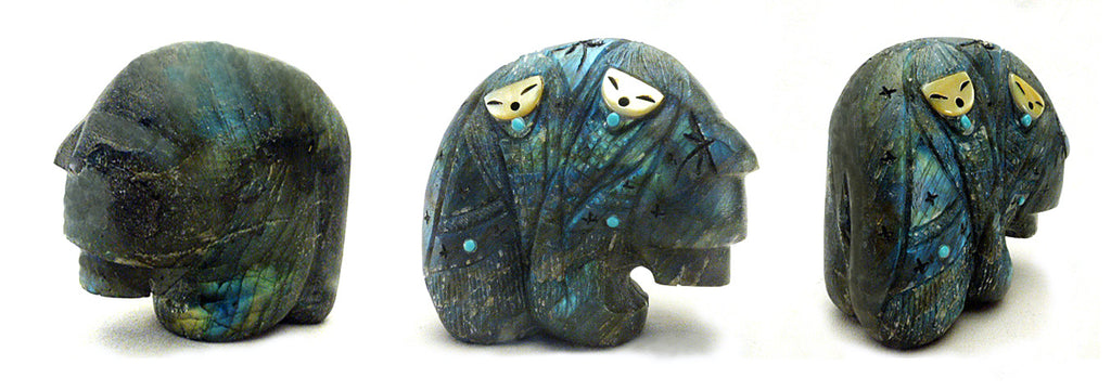 Labradorite Medicine Bear With Maidens by Kateri Sanchez