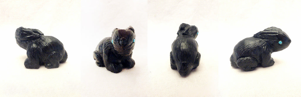 Black Marble Rabbit by Herbert Him Jr.