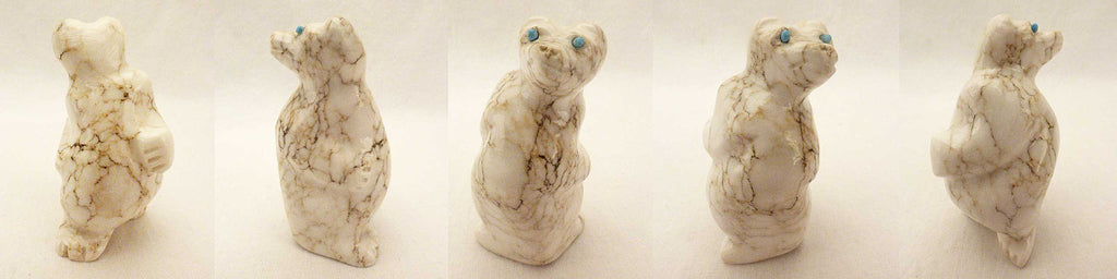 Howlite Bear by Mike Tucson