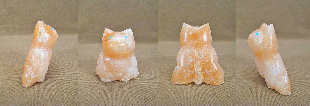 Orange Alabaster Cat by Leland Boone and Daphne Quam