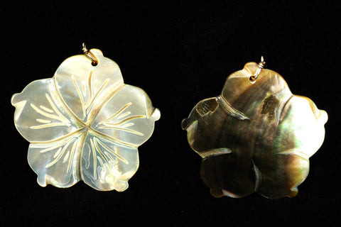 Mother-of-Pearl Flower Pendent  by Lita Atencio