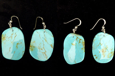Turquoise* Turquoise Earrings by Lita Atencio