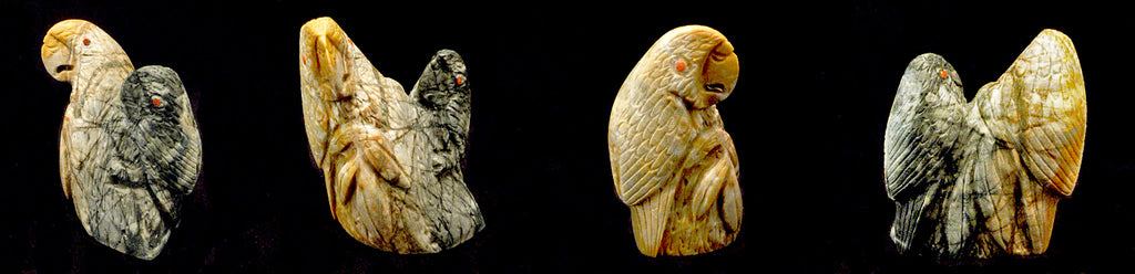 Picasso Marble Bird, Parrot by Michael Coble
