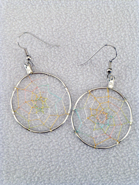 Sterling Silver Dream Catcher Earrings by Mathew Sandoval