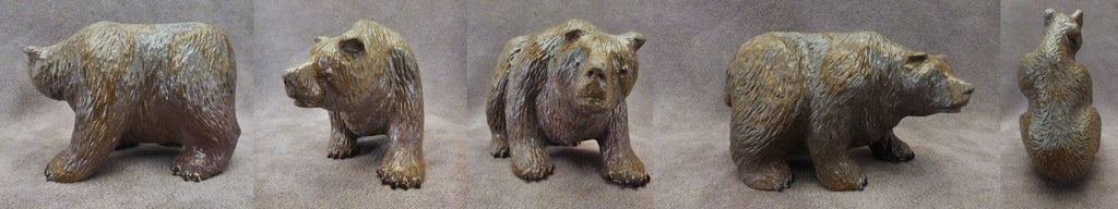 Nutria Travertine Bear by Fred Bowannie