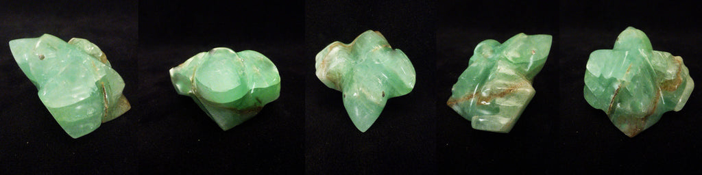 Green Calcite Bird by Debra Gasper and Ray Tsethlikai