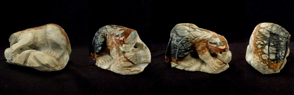Picasso Marble Beaver by Derrick Kaamasee