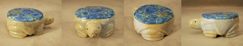 Zuni Rock (travertine) / Azurite Turtle by Felino Eriacho