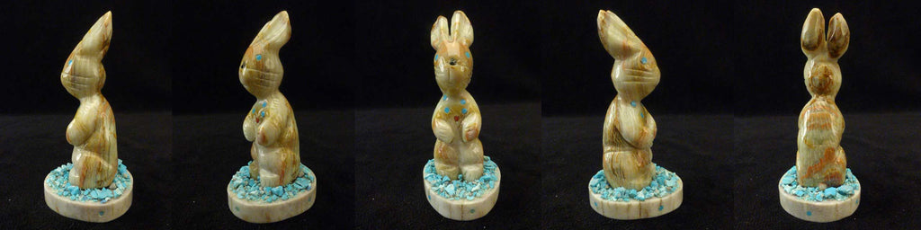 Picasso Marble Rabbit by Stafford Chimoni