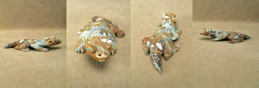 Picasso Marble Horned Toad by Lance Cheama