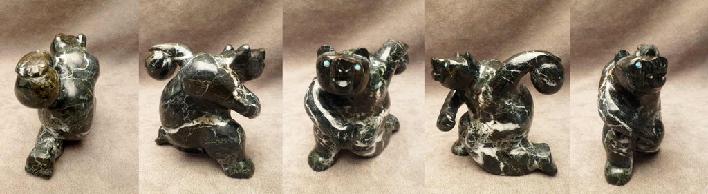 Black Marble Bear  by Yancy Robert Halusewa-Deceased