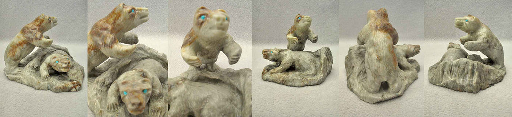 Picasso Marble Bears by Herbert Him