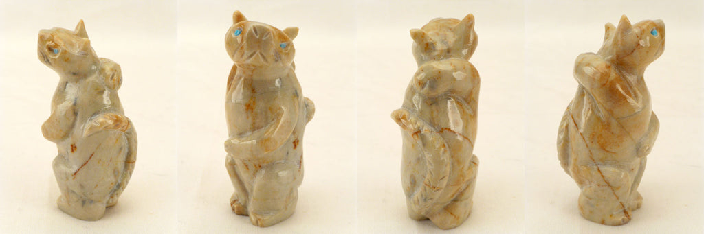 Picasso Marble Cat  by Yancy Robert Halusewa-Deceased