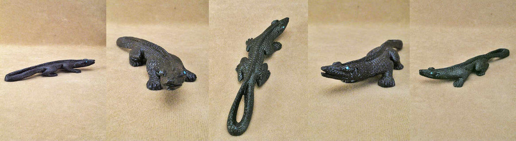 Black Marble Lizard by Lance Cheama
