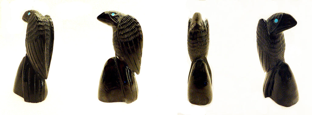 Black Marble Bird, Crow by Hudson Sandy