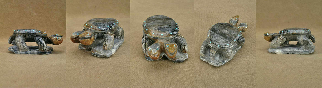 Picasso Marble Turtles by Derrick Kaamasee