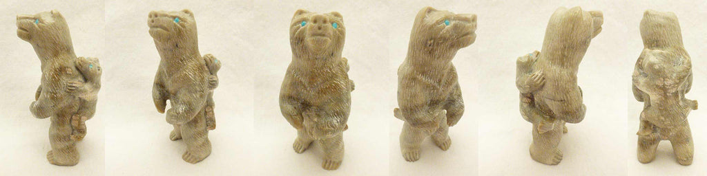 Picasso Marble Bear with Cub by Herbert Him