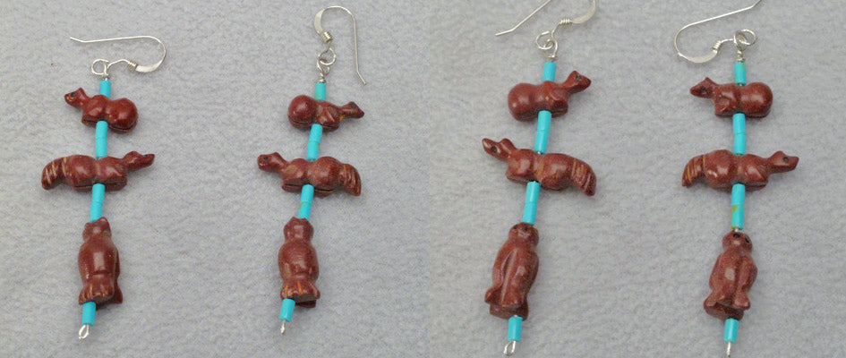 Pipestone Earrings by Reva Halate