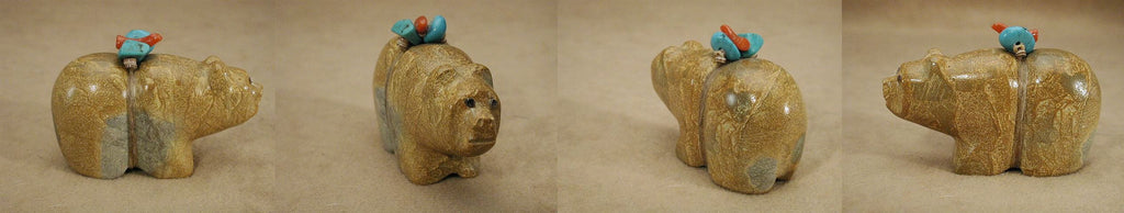 Zuni Rock (travertine) Bear by Felino Eriacho