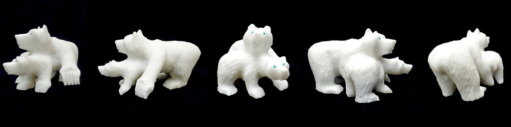 Sugar Marble  Bear With Cub by Albert Eustace