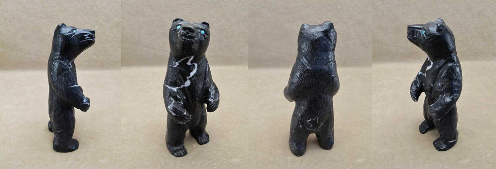 Black Marble Bear, Large by Herbert Him