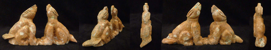 Picasso Marble Howling Coyote, Double by Herbert Him Jr.