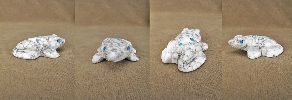 Howlite Frog by Bremette Epaloose - Deceased