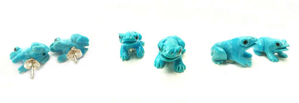 Turquoise* Frog Earring Set by Lance Cheama