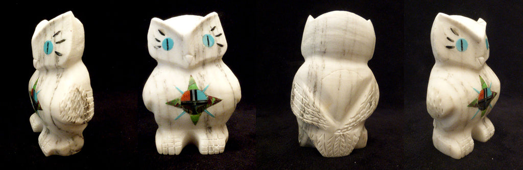 Howlite Bird, Horned Owl by Andres Lementino