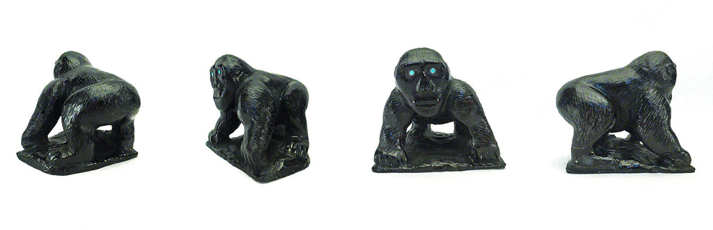 Black Marble Gorilla by Derrick Kaamasee