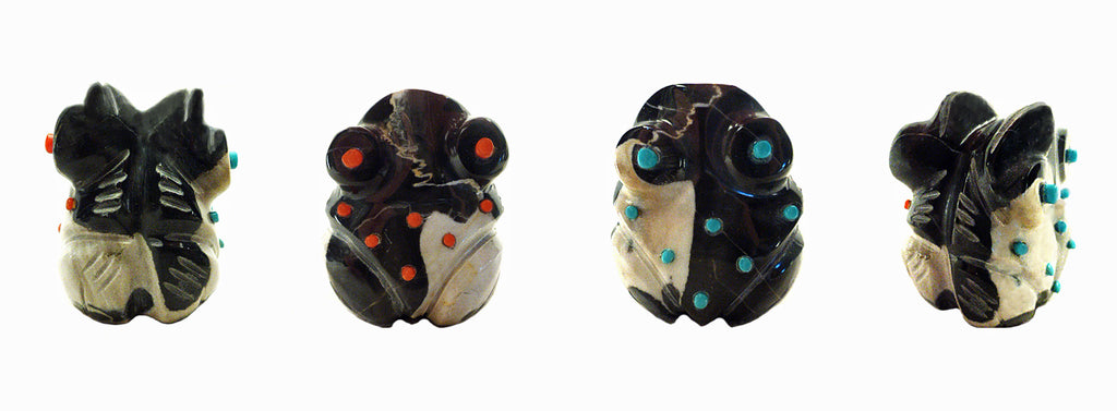 Egyptian Marble Frog, Double by Claudia Peina