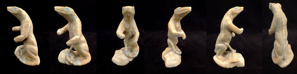 Picasso Marble Lizard by Herbert Him