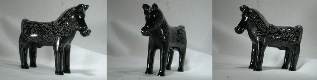 Black Marble Horse by Curtis Garcia