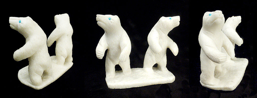 White Marble Bear, Double by Herbert Him