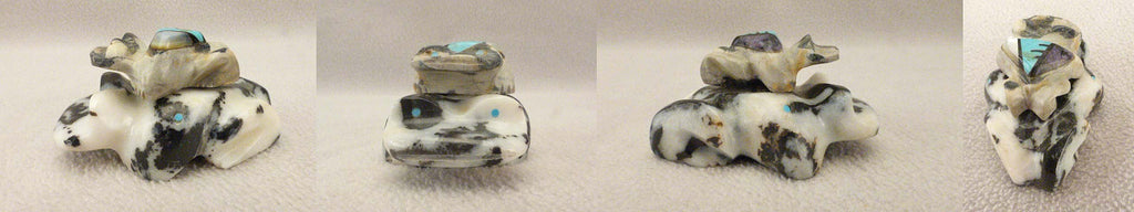 Zebra Stone Frogs by Peter Natachu, Jr., Deceased