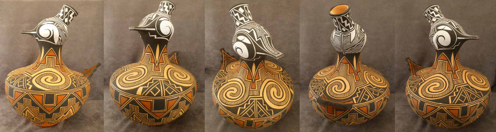 Natural Clay Duck Effigy Jar by Anderson Peynetsa