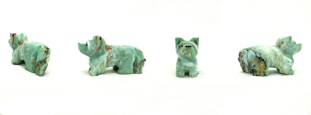 Zapotec Turquoise* Dog, Welsh Corgi  by Clissa Martin
