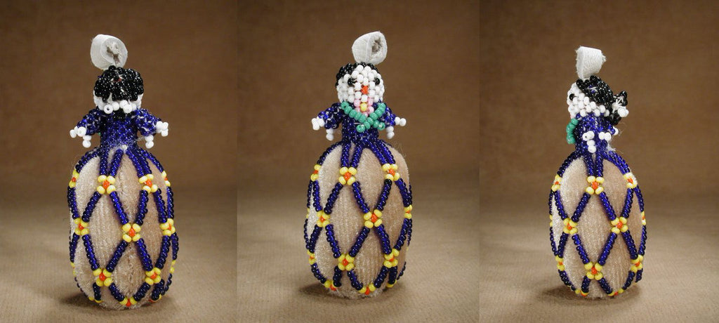 Glass Beads Beaded Lady  by an Unknown Zuni