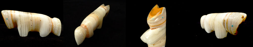 Banded Onyx Horse  by Debra Gasper and Ray Tsethlikai