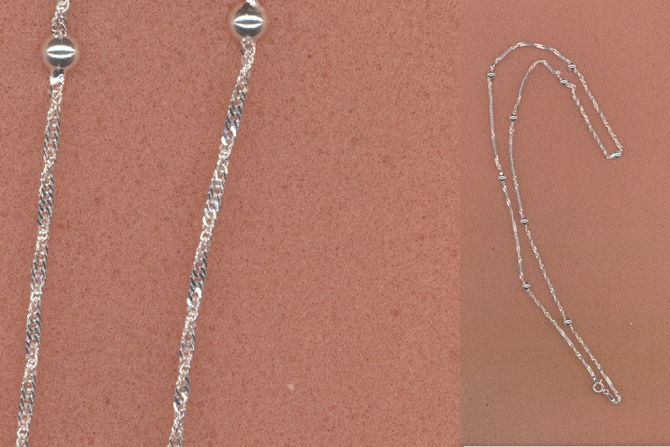 Sterling Silver Italian Chain by an Unknown Artist