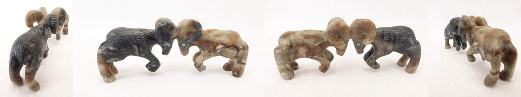 Picasso Marble Rams by Wilfred Cheama