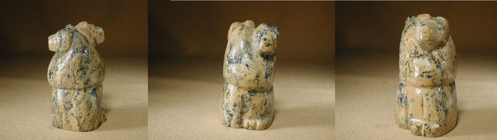 Picasso Marble Bears, Large, Double by Fitz Kiyite