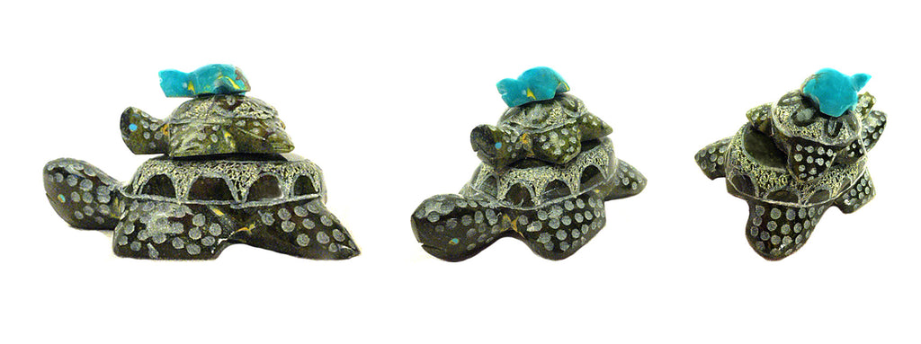 Serpentine & Turquoise Turtles by Russell Shack