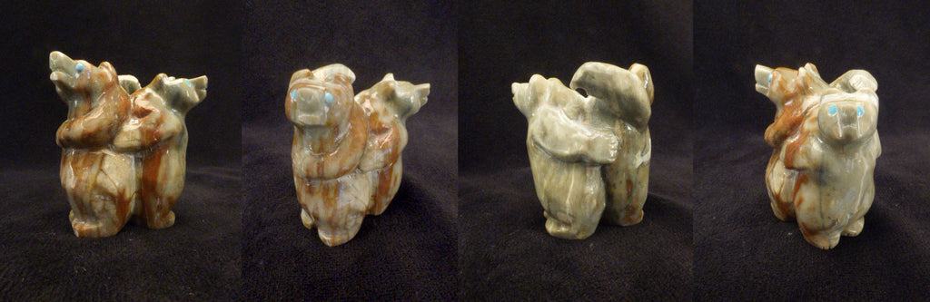 Picasso Marble Bear, Double by Yancy Robert Halusewa-Deceased