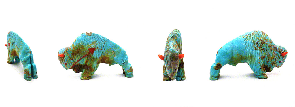 Number Eight Mine Turquoise Buffalo by Andres Quandelacy